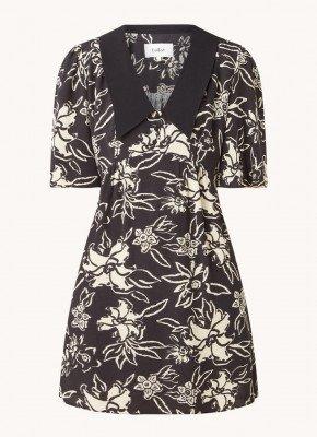 BA&SH ba&sh Seyton mini jurk met kraag en bloemenprint