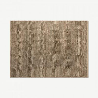 MADE.COM Enas vloerkleed van jute, groot, 160 x 230 cm, zwart