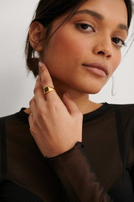 NA-KD Accessories NA-KD Accessories Gold Plated Pinky Ring - Gold