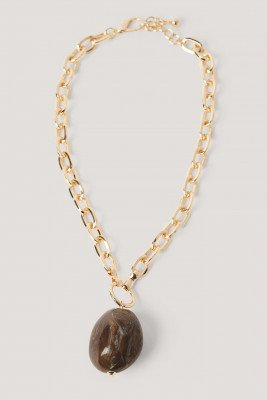 NA-KD Accessories NA-KD Accessories Ketting Met Steen - Gold