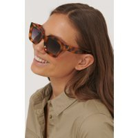 NA-KD Accessories Square Frame Sunglasses - Brown