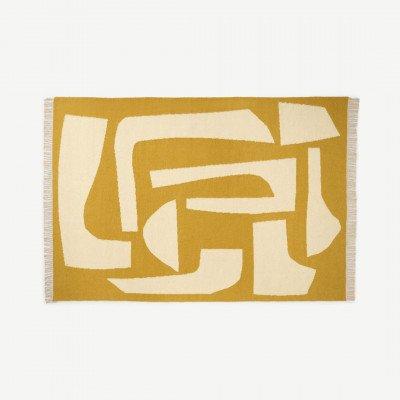 MADE.COM Lafant platgeweven vloerkleed, groot, 160 x 230 cm, bruin
