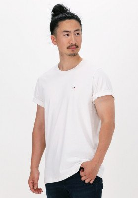 Tommy Jeans Witte Tommy Jeans T-shirt Tjm Classic Jersey C Neck