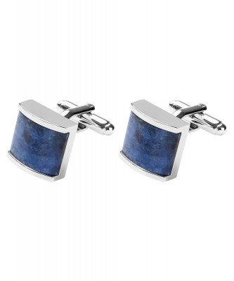 Profuomo Profuomo heren blauwe manchetknopen