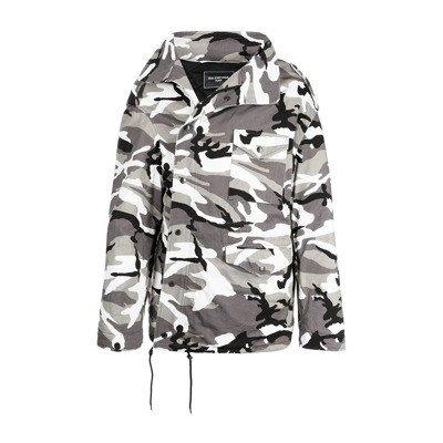 Balenciaga Off-Shoulder Military Parka