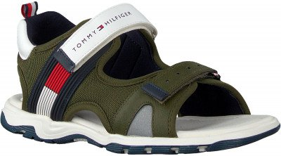 Tommy Hilfiger Groene Tommy Hilfiger Sandalen Velcro Sandal J