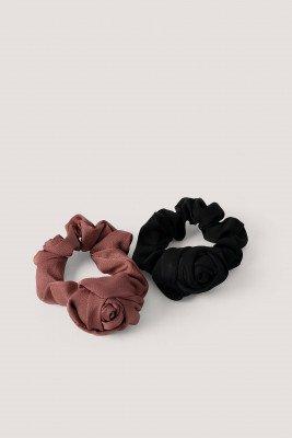 NA-KD Accessories Scrunchies - Black,Burgundy
