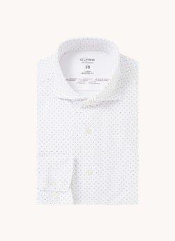 Olymp Olymp Modern fit overhemd met stretch en stippenprint