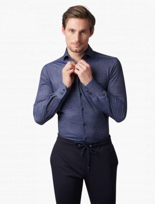 Cavallaro Napoli Cavallaro Napoli Heren Overhemd - Amedeo Overhemd - Donkerblauw