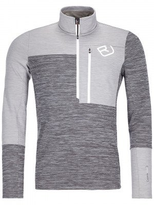 Ortovox Ortovox Light Zip Neck Fleece Pullover grijs