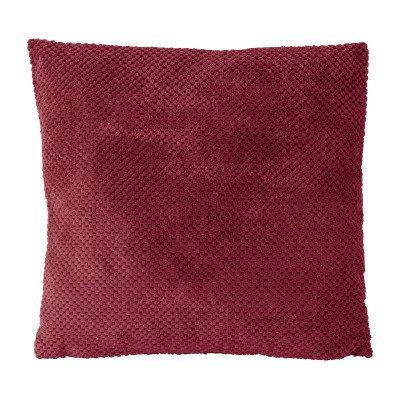 Xenos Kussen blokje - rood - 45x45 cm
