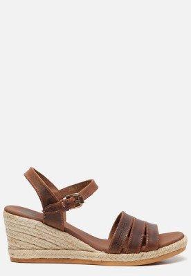 Panama Jack Panama Jack Isa B805 sandalen met sleehak cognac