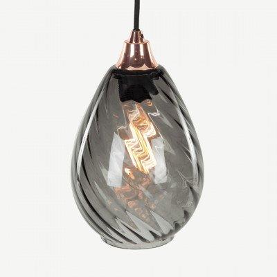 MADE.COM Illaria ronde hanglampenkap, rookgrijs