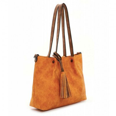 Emily en Noah Emily en Noah Bag in Bag Surprise Cityshopper Orange/Cognac