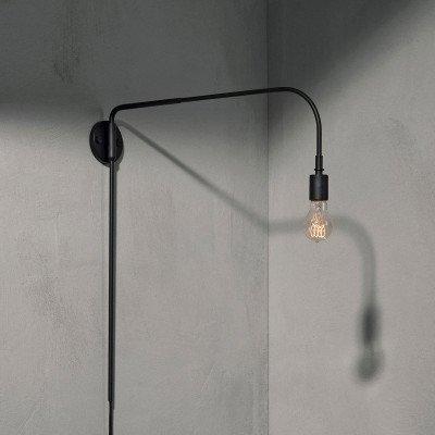 Menu Menu Warren wandlamp met stekker, zwart