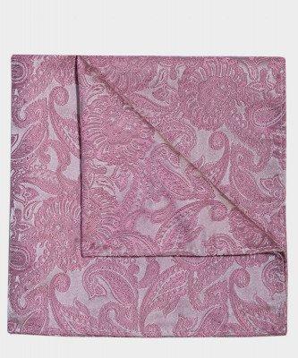 Michaelis Michaelis heren paisley zijden pochet roze