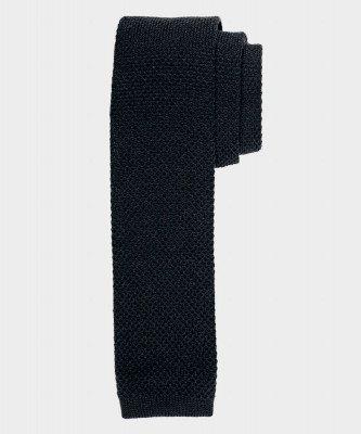 Michaelis Michaelis heren gebreide wollen stropdas zwart