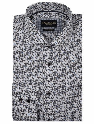 Cavallaro Napoli Cavallaro Napoli Heren Overhemd - Arco Overhemd - Multi Colour