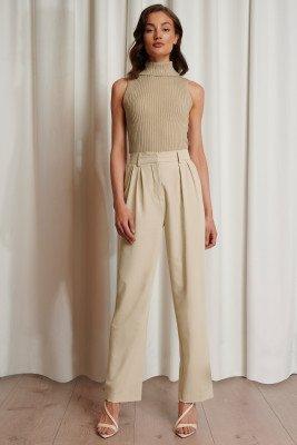 Emma Ellingsen x NA-KD Emma Ellingsen x NA-KD Oversized Pantalon - Beige