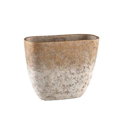 Ptmd jae goud cement ruige pot ovaal m