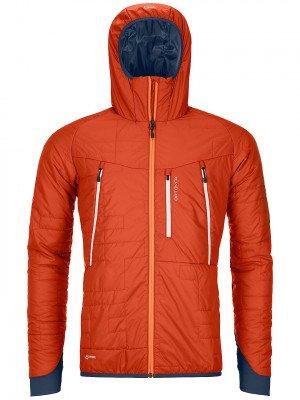 Ortovox Ortovox Swisswool Piz Boe Jacket oranje