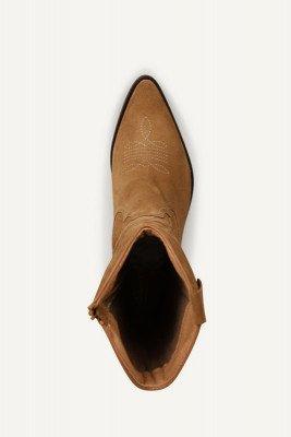 Shoecolate Shoecolate Cowboylaarzen plat Cognac 8.20.08.044