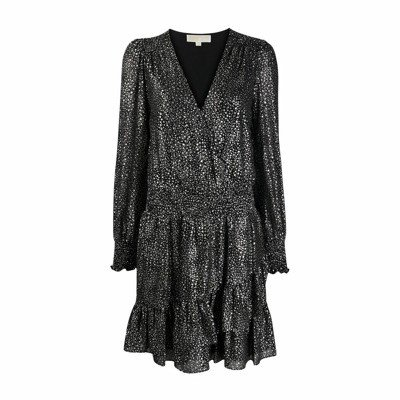 Michael Kors Spaced Galaxy Flounce-jurk