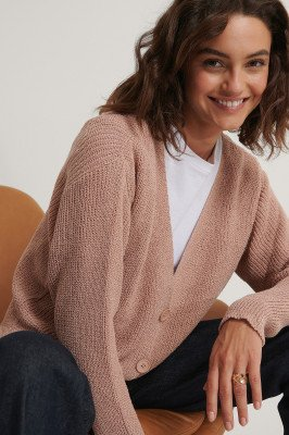 Trendyol Gebreid Vest Met Knopendetail - Pink