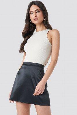 NA-KD Trend NA-KD Trend Satin Mini Skirt - Black