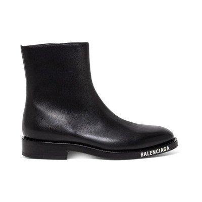 Balenciaga Boots with Contrasting Logo