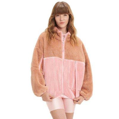 UGG UGG Marlene Sherpa Jacket Bruin/Roze Dames Jacket