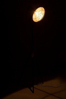 J-Line J-Line Vloerlamp 'Hendrina' 150cm hoog, kleur metaal