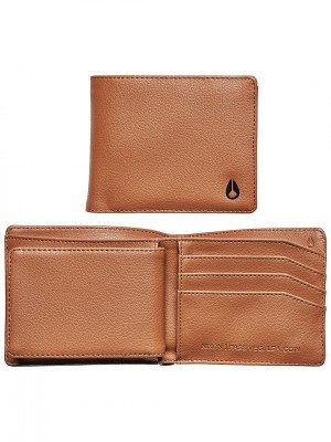 Nixon Nixon Pass Vegan Leather Coin Wallet bruin