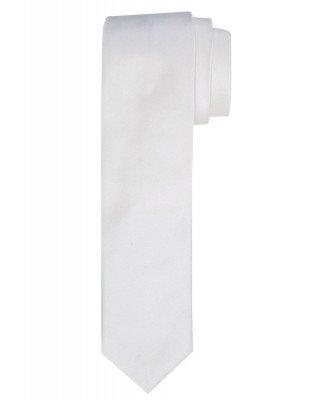 Profuomo Profuomo heren off-white smalle zijden trouwstropdas