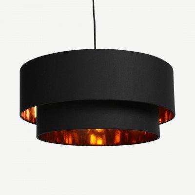 MADE.COM Oro gelaagde hanglampenkap, zwart en koper