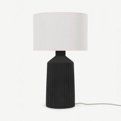 MADE.COM Kae tafellamp, zwart