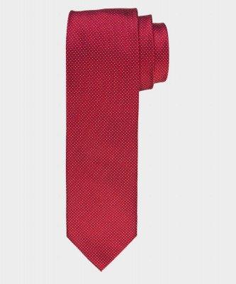 Michaelis Michaelis heren pindot zijden stropdas rood