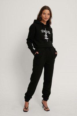 Lisa-Marie Schiffner x NA-KD Organisch Joggingbroek Met Trekkoord - Black