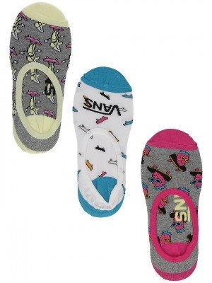 Vans Vans Skate Fruit Canoodle 6.5-10, 3Pk) Socks patroon