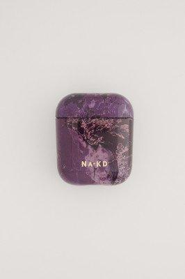 NA-KD Accessories NA-KD Accessories Printed AirPod Case - Purple