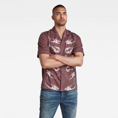 G-Star RAW Hawaiian Service Regular Shirt - Paars - Heren