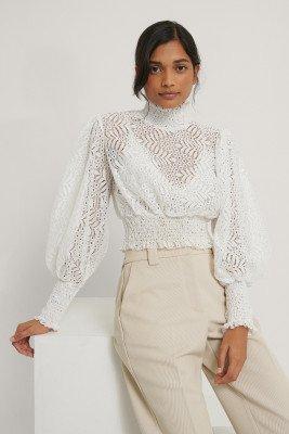 Trendyol Trendyol Blouse Met Kraagdetail - White