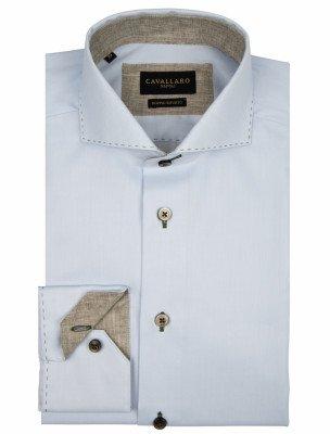 Cavallaro Napoli Cavallaro Napoli Heren Overhemd - Colombo Overhemd - Blauw