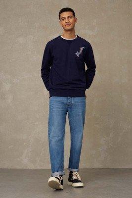 Kings of indigo Kings of Indigo - STEPHEN sweater Male - Darkblue