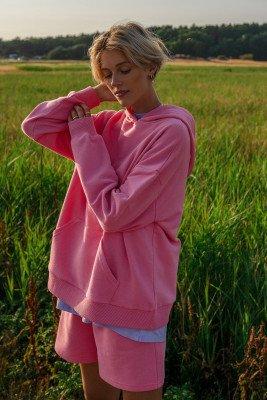 NA-KD Trend NA-KD Trend Oversized Hoodie Met Zak Van Biologisch Katoen - Pink