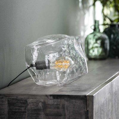 LifestyleFurn Tafellamp 'Sonia' Transparant, kleur Transparant glas