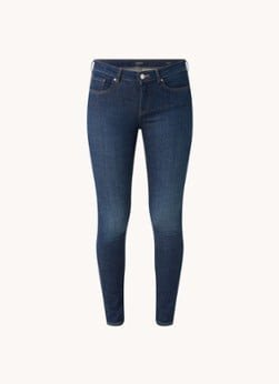 Scotch en Soda Scotch & Soda La Bohemienne high waist slim fit jeans met donkere wassing