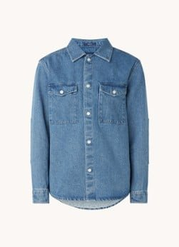 Gant Gant Regular fit overhemd van denim met klepzakken