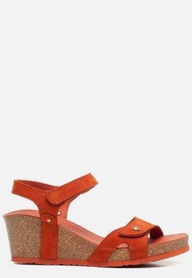 Panama Jack Panama Jack Julia Basics B15 sandalen met sleehak oranje