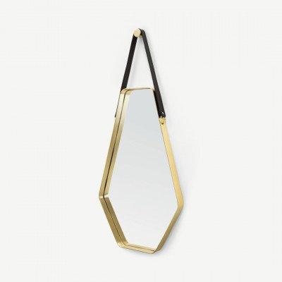 MADE.COM Cora grote spiegel 45 x 100 cm, zwart en goud